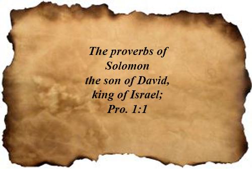 Bible Verses : Proverbs 01:01