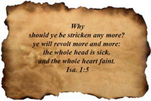 Bible Verses : Isaiah 01:05