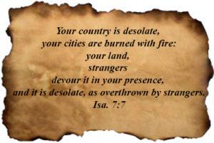 Bible Verses : Isaiah 01:07