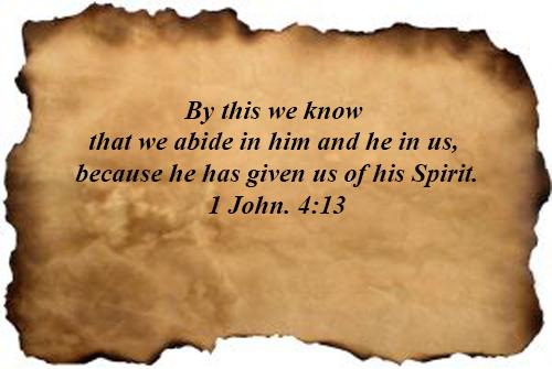 1 John 04:13